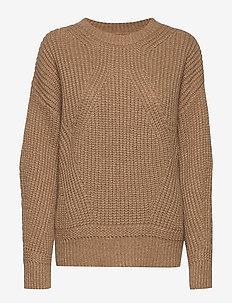 Liz Autumn Knit - jumpers - burro camel