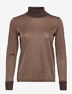 Casio Roll-neck Tee LS - langærmede toppe - chocolate chip