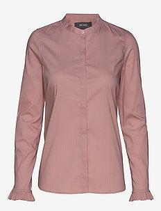Mattie Fine Stripe Shirt - VINTAGE ROSE