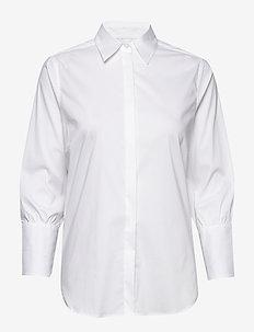 Larina Ribbon Shirt 7/8 - long-sleeved shirts - white
