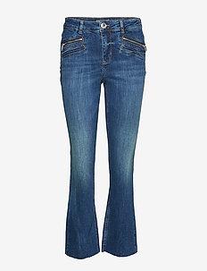 Simone Zip Jeans - dzwony dżinsy - blue denim