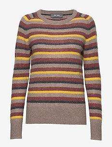 Marbel Stripe Cashmere - cashmere - wild plum