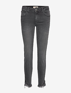 Sumner Fray Trok Jeans - BLACK DENIM
