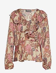 Alora Weave Blouse - VINTAGE ROSE FLOWER