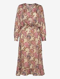Chita Weave Dress - omslagskjoler - vintage rose flower