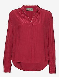 Tarin Blouse - long sleeved blouses - courage red
