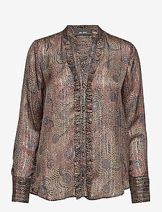 Damia Peacock Shirt - PEACOCK PRINT
