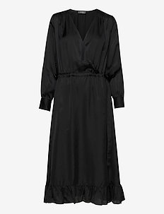 Chita Dress - wrap dresses - black