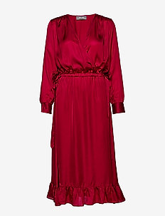 Chita Dress - wrap dresses - courage red