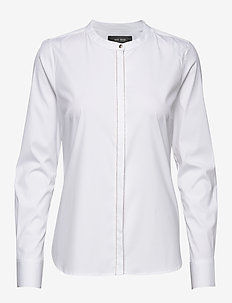 Maggie Chain Shirt - long-sleeved shirts - white