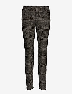 Abbey Regular York Pant - slim fit trousers - black check
