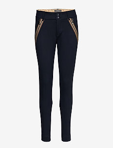 Milton Comfort Pant - slim fit trousers - salute navy