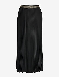 Plissé Noir Skirt - BLACK