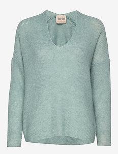 Thora V-neck Knit - trøjer - mint haze