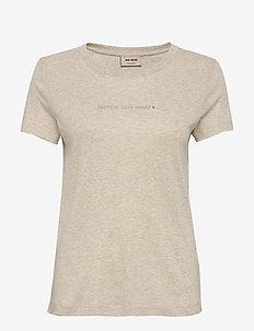 Passion Glitter Tee SS - t-shirts - safari