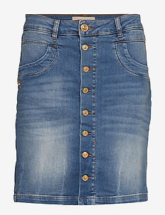 Vicky Decor Skirt - denimnederdele - blue