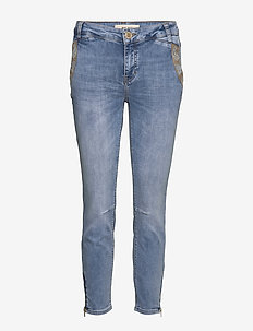 Etta Paisley Jeans - BLUE