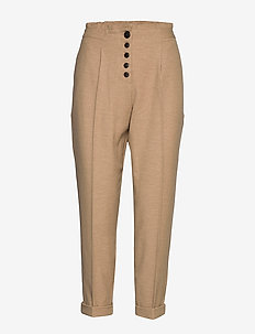 Nolan Linen Pant - straight leg trousers - safari
