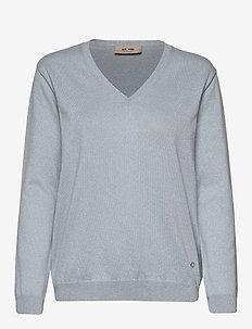 Ada V-neck Knit - trøjer - celestial blue