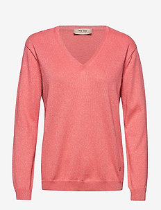 Ada V-neck Knit - jumpers - sugar coral