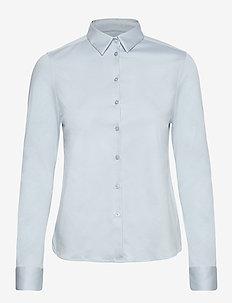 Tina Jersey Shirt - long-sleeved shirts - celestial blue