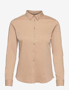 Tina Jersey Shirt - langærmede skjorter - cuban sand