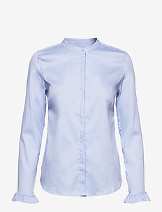 Mattie Sustainable Shirt - långärmade skjortor - light blue