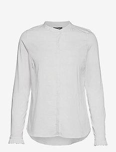Mattie Sustainable Shirt - langermede skjorter - white