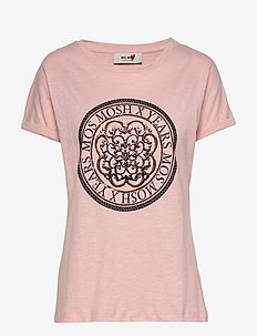 Yara Anniversary Tee - printed t-shirts - rose with copper