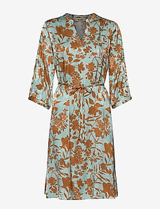 Renata Stencil Dress - midi dresses - mint haze