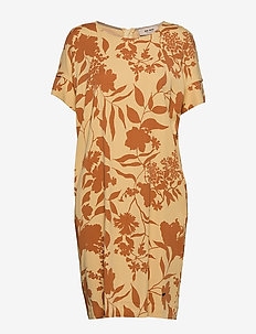 Lori Stencil Dress - midi dresses - jojoba