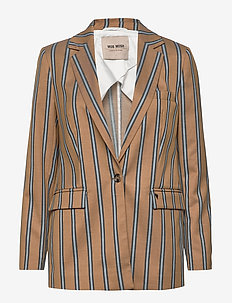 Cobb Zeth Blazer - suits & co-ords - dark blue stripe