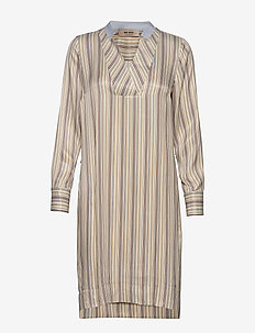 Lipa River Dress - midi dresses - light blue stripe