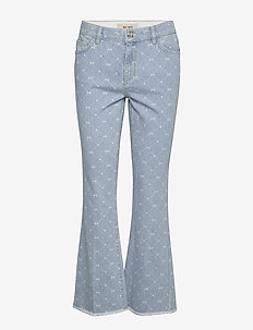 Simone Monogram Jeans - flared jeans - light blue