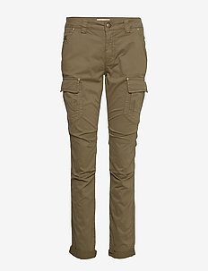 Cheryl Cargo Reunion Pant - straight leg trousers - army