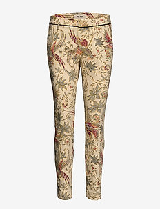 Abbey Eden Pant - slim fit spodnie - bird print