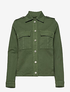 Blair Herringbone Jacket - UNION GREEN