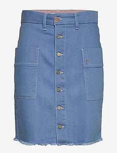 Viv Sky skirt - denim skirts - light blue