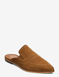 MM Boston Suede Flat - COGNAC