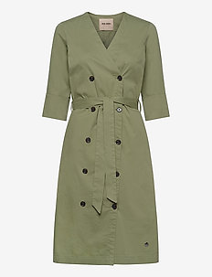 Vinnie Cole Dress - wrap dresses - oil green
