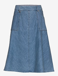 Alice Mistral Skirt - denimnederdele - blue