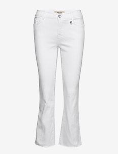 Ashley White Jeans - dzwony dżinsy - white