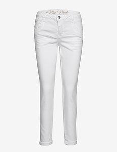 Naomi Novel White - slim fit trousers - white