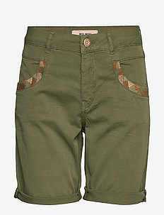 Naomi Decor G.D Shorts - OIL GREEN