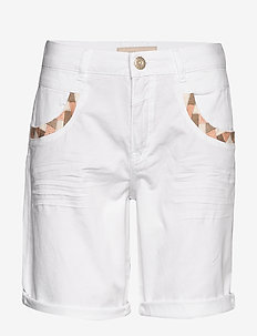 Naomi Decor G.D Shorts - denimshorts - white