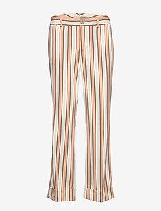 Bella Rally Pant - wide leg trousers - peach cobbler