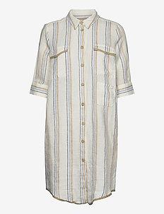 Katy Kian Tunic - shirt dresses - blue stripe