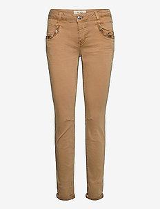 Naomi Jewel G.D Pant - slim fit spodnie - burro camel