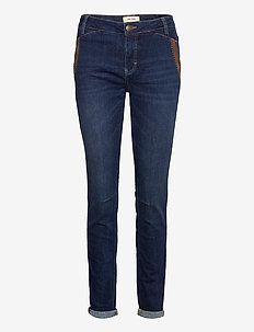 Etta Leather Jeans - straight jeans - blue