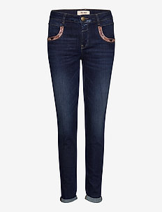 Naomi Jewel Jeans - straight jeans - blue